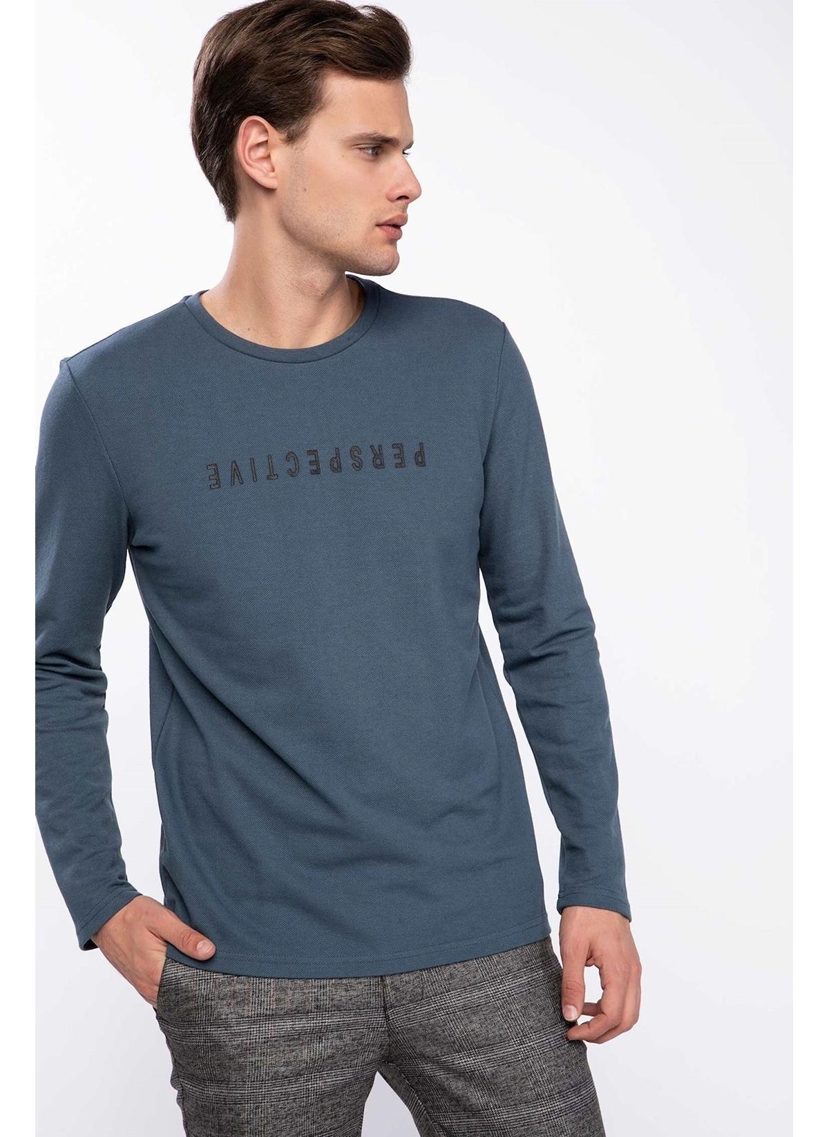 Defacto Yazı Baskılı Slim Fit Sweatshirt K3238az19spın161 Sweatshirt – 29.99 TL